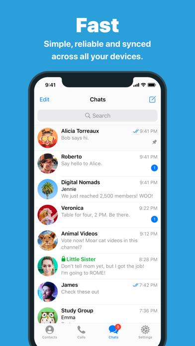 How to cancel & delete Telegram Messenger 1