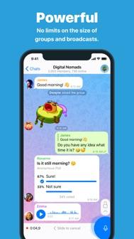 Telegram Messenger iphone screenshot 2