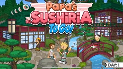 Papa's Sushiria To Go! iphone screenshot 1