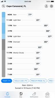 Dark Sky Weather iphone screenshot 2