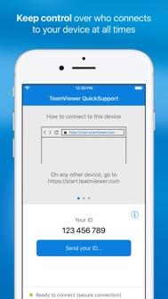 TeamViewer QuickSupport iphone screenshot 3