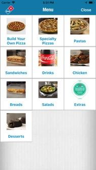 Domino's Pizza USA iphone screenshot 2