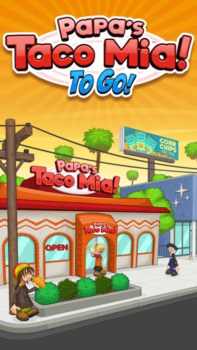 Papa's Taco Mia To Go! iphone screenshot 1