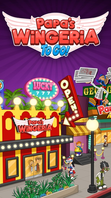 Papa's Wingeria To Go! iphone screenshot 1