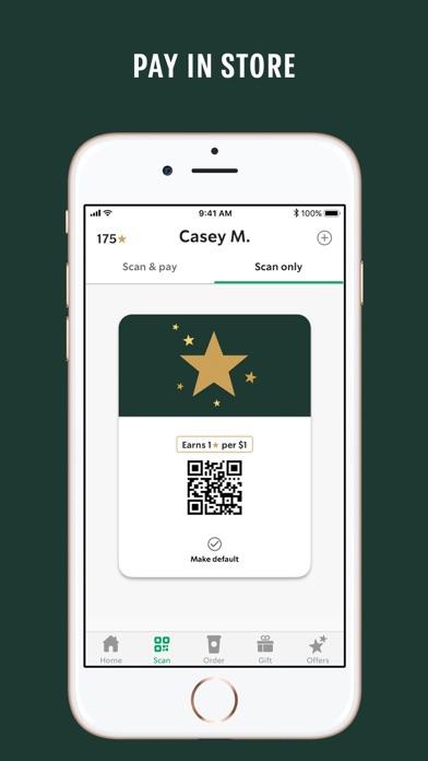Starbucks iphone screenshot 2