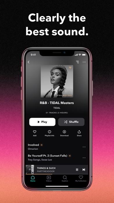 TIDAL Music iphone screenshot 1