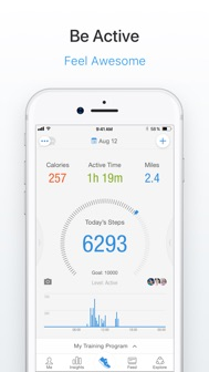 Pacer Pedometer & Step Tracker iphone screenshot 1