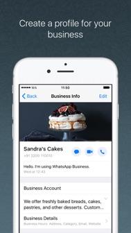 WhatsApp Business iphone screenshot 1