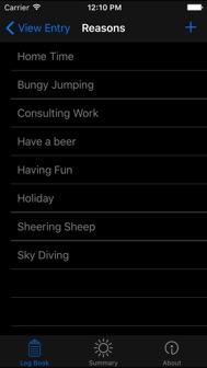 Log-Book iphone screenshot 4