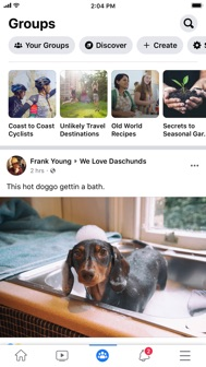 Facebook iphone screenshot 3