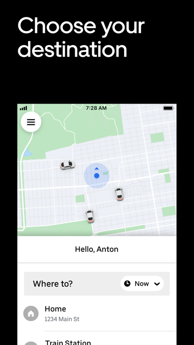 How to cancel & delete Uber - Request a ride 3