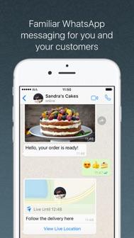 WhatsApp Business iphone screenshot 2