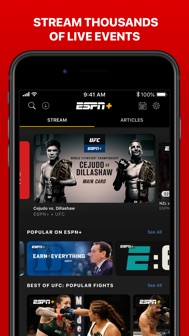ESPN: Live Sports & Scores iphone screenshot 3