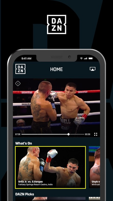 DAZN: Live Sports Streaming iphone screenshot 1