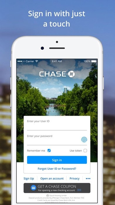 Chase Mobile®: Bank & Invest iphone screenshot 1