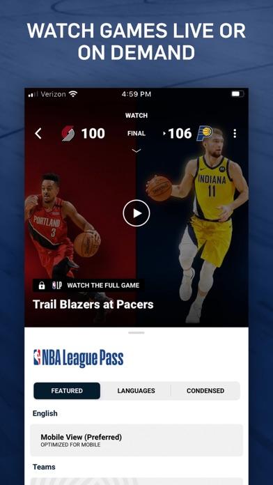 NBA: Live Games & Scores iphone screenshot 3