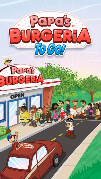 Papa's Burgeria To Go! iphone screenshot 1
