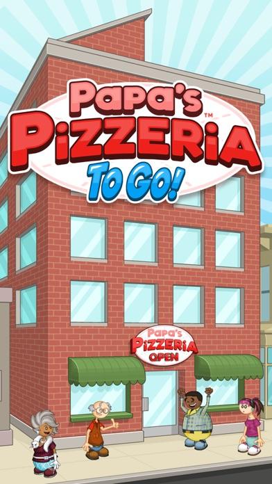 Papa's Pizzeria To Go! iphone screenshot 1