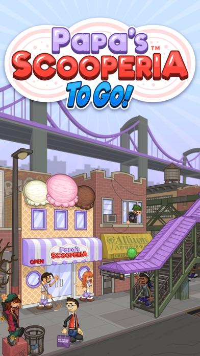 Papa's Scooperia To Go! iphone screenshot 1