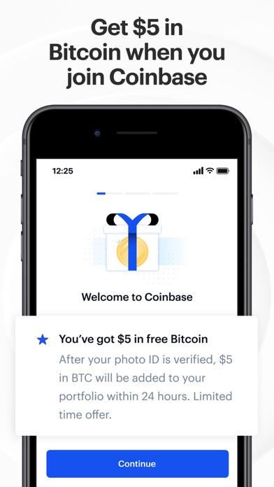 Coinbase – Buy & sell Bitcoin iphone screenshot 1