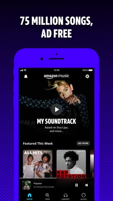 Amazon Music: Songs & Podcasts iphone screenshot 1