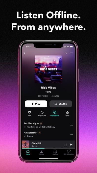 TIDAL Music iphone screenshot 3