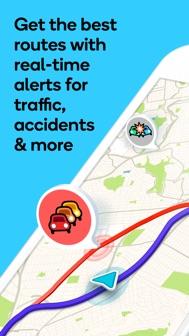 Waze Navigation & Live Traffic iphone screenshot 1
