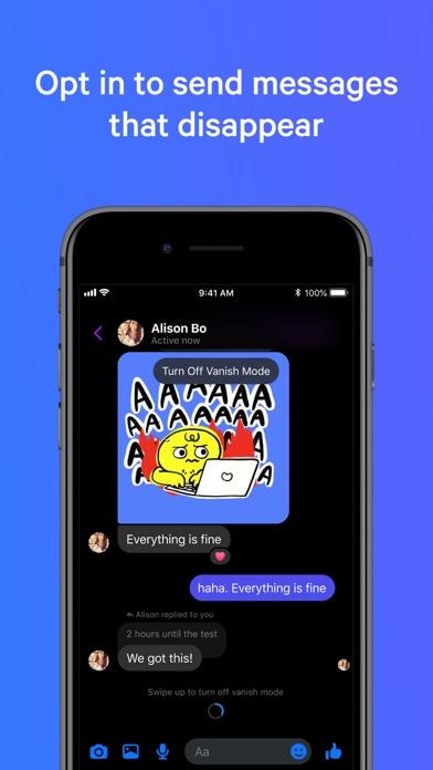 Messenger iphone screenshot 2