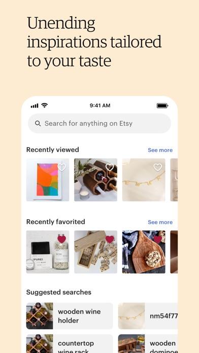 Etsy: Custom & Creative Goods iphone screenshot 2