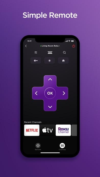 Roku - Official Remote Control iphone screenshot 1