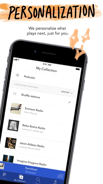 Pandora: Music & Podcasts iphone screenshot 3