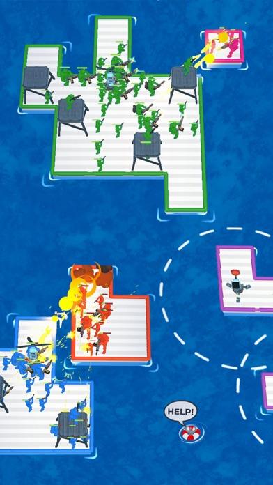 War of Rafts: Naval Battle iphone screenshot 2