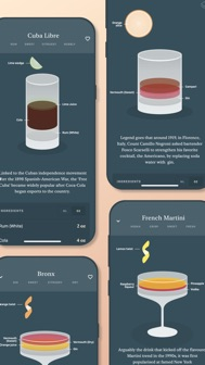 Coupe: cocktail recipes iphone screenshot 1