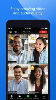 ZOOM Cloud Meetings iphone screenshot 2