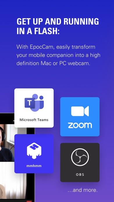 EpocCam Webcamera for Computer iphone screenshot 2