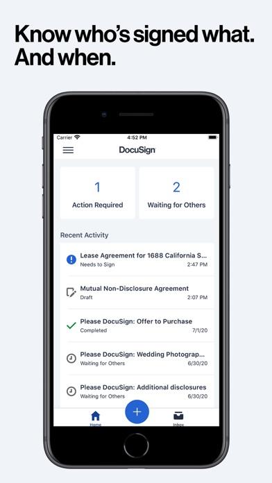 DocuSign - Upload & Sign Docs iphone screenshot 3