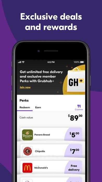 Grubhub: Local Food Delivery iphone screenshot 2