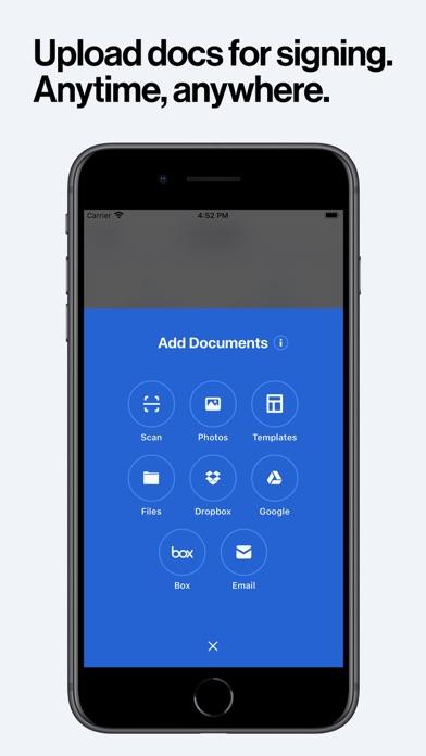 DocuSign - Upload & Sign Docs iphone screenshot 4