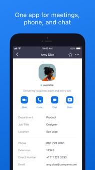 ZOOM Cloud Meetings iphone screenshot 1