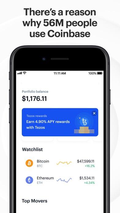 Coinbase – Buy & sell Bitcoin iphone screenshot 2