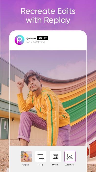 Picsart Photo & Video Editor iphone screenshot 3