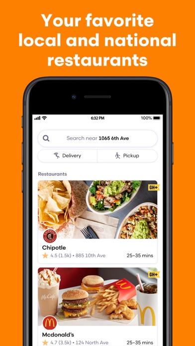 Grubhub: Local Food Delivery iphone screenshot 4