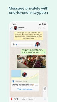 WhatsApp Messenger iphone screenshot 2