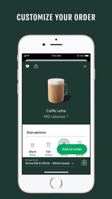 Starbucks iphone screenshot 4