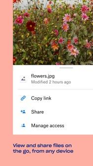 Dropbox: Cloud Storage, Backup iphone screenshot 2