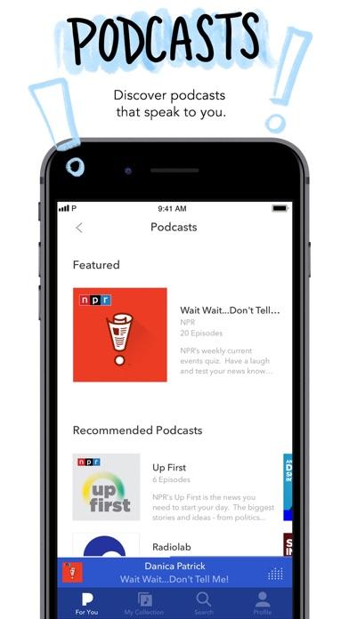 Pandora: Music & Podcasts iphone screenshot 4