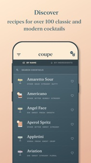 Coupe: cocktail recipes iphone screenshot 2