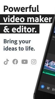 Adobe Premiere Rush for Video iphone screenshot 1