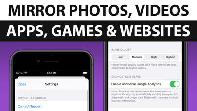 How to cancel & delete Screen Mirroring + for Roku 1