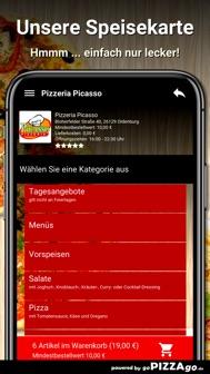 Pizzeria Picasso Oldenburg iphone screenshot 4